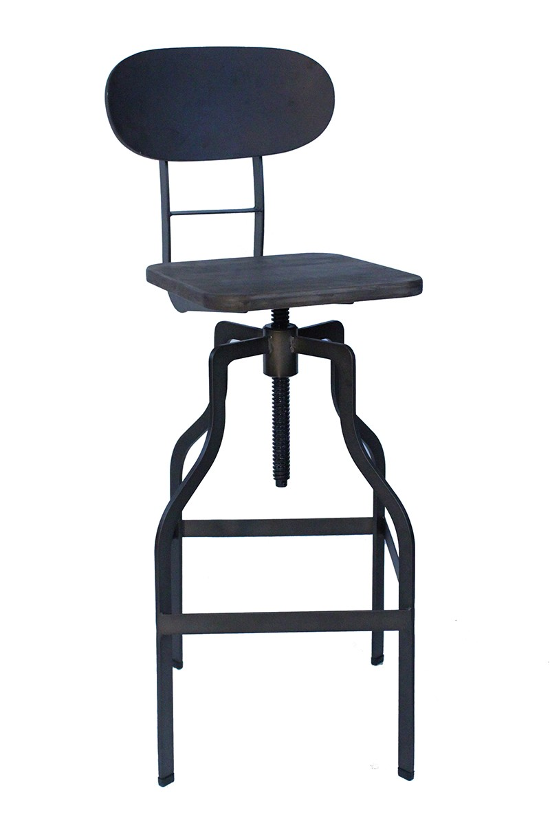 kitchen stools metal islands style bolzano espresso