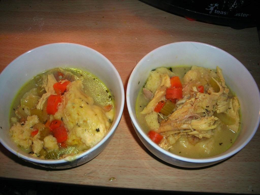 homemade chicken dumplings comfort food