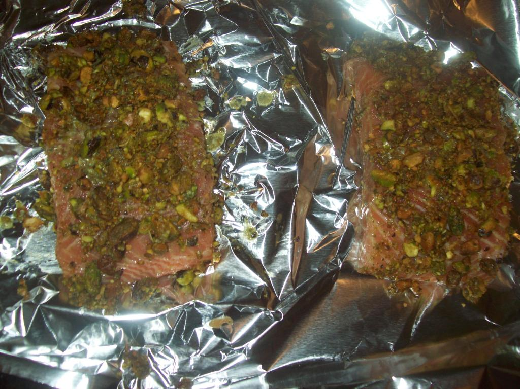 stach crusted salmon