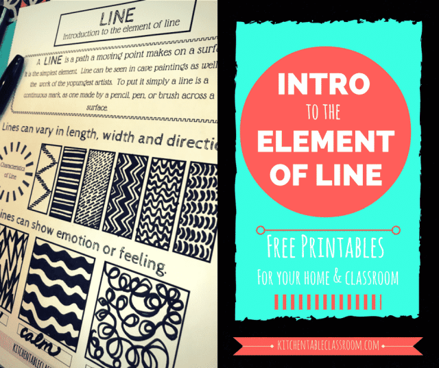 Line in art is an easy start! Line is an essential element of art and a great place to start with kids because it is so unintimidating.