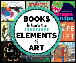 Books are an easy way to teach about the elments of art!
