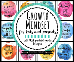 Check out these free printables about growth mindset!