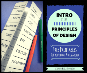 Introduce your students to the principles of design with this easy printable!