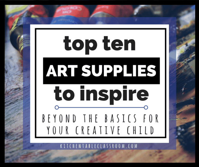 Kids can have an amazing art education right in their own home. A few inspiring art supplies that go beyond basic and their home art education can soar!