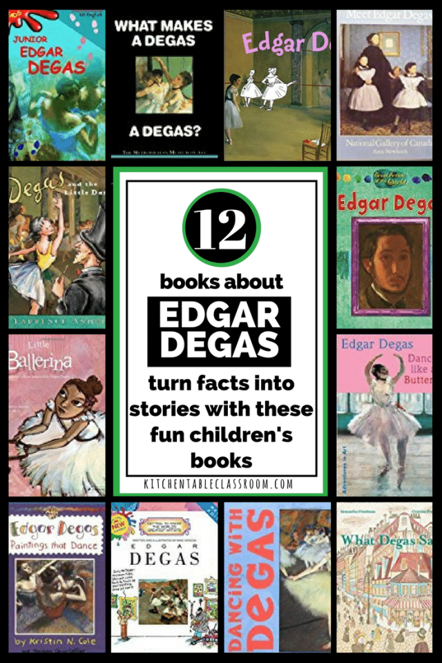 Everything you need is right here for an entire lesson Edgar Degas lesson.  Read some books, look at his art work, write, and talk.