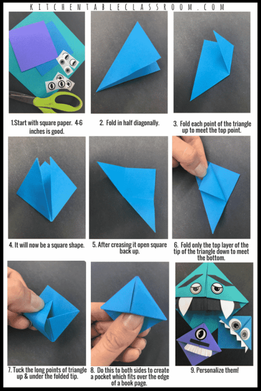 Folded Origami Bookmark Origami Tutorial Lets Make It