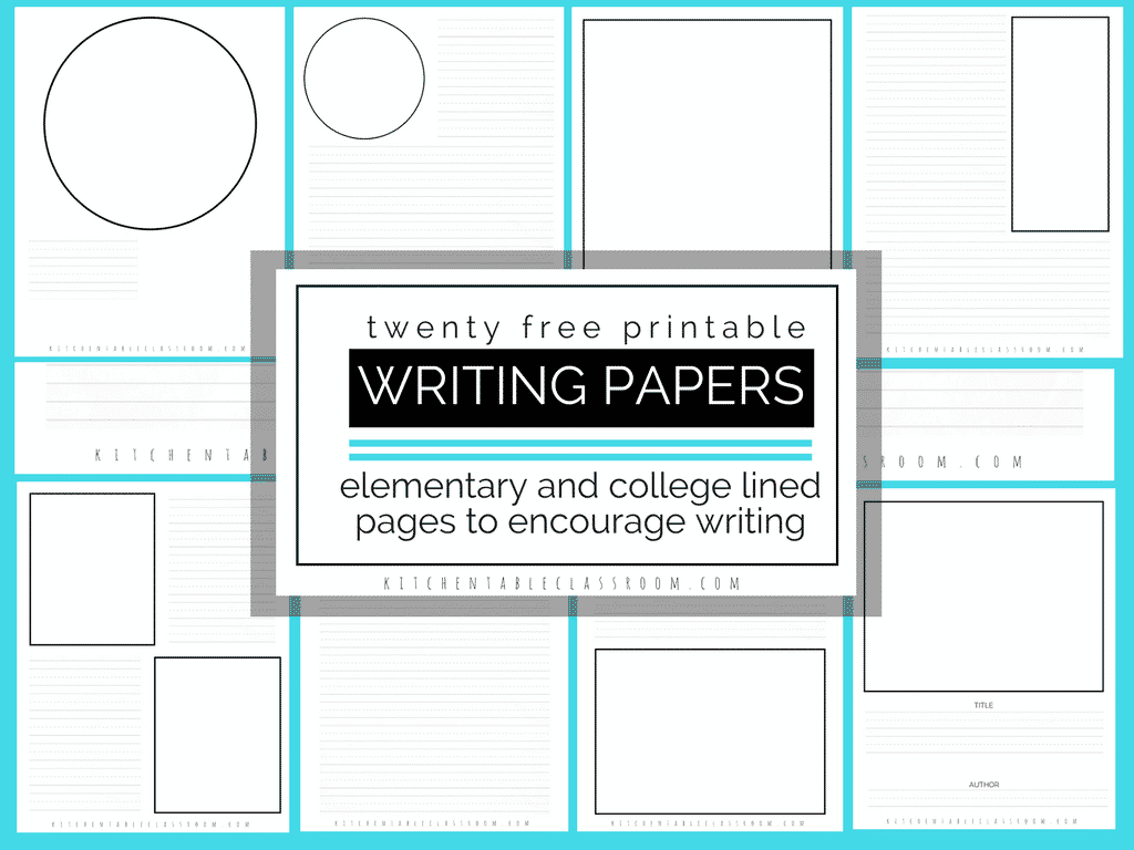 Printable Writing Paper For Kids Twenty Versions Of Lined