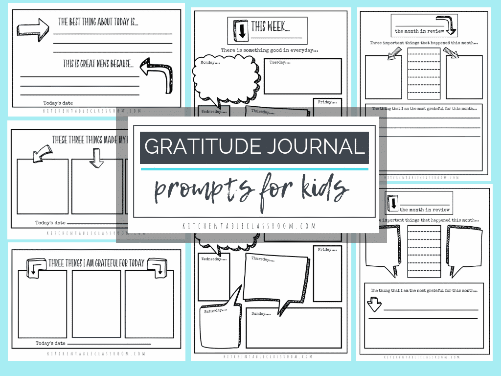 Gratitude Journal Prompts Free Printable Gratitude