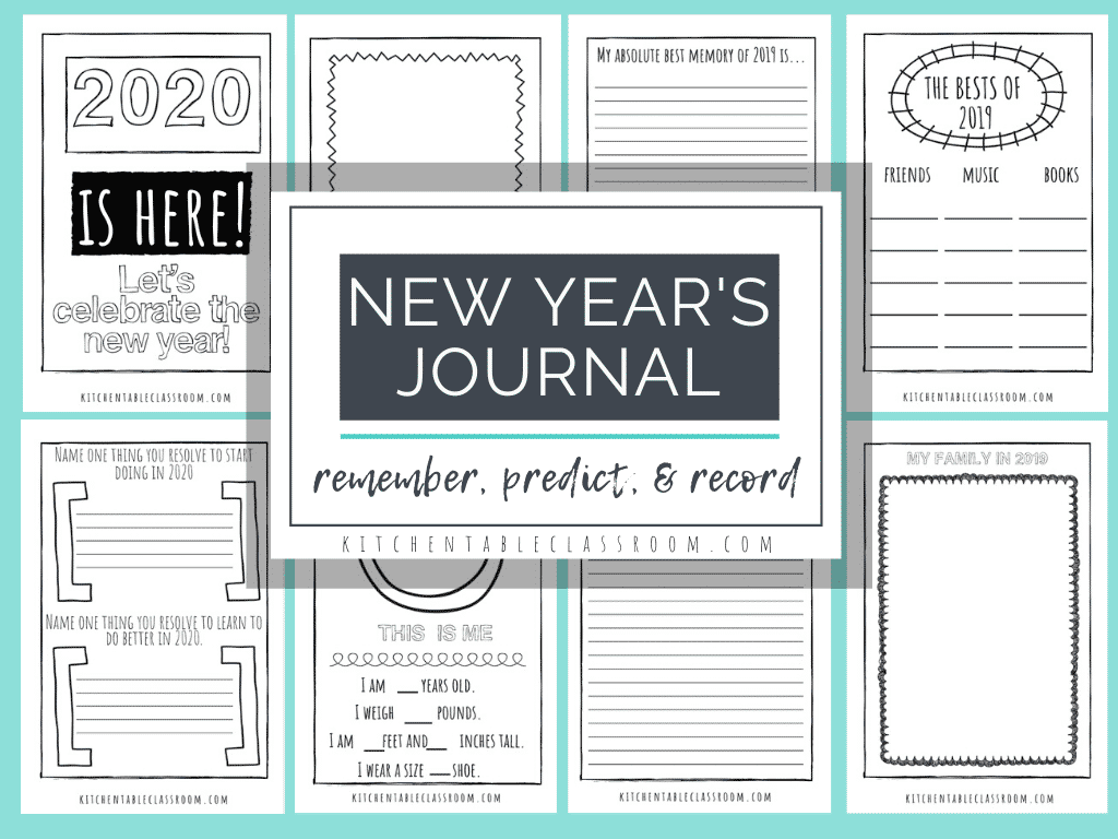 New Years Coloring Pages Free Printable Journal For Kids The Kitchen Table Classroom