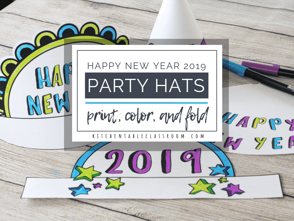 New Year S Eve Party Hats Easy New Year S Crafts For Kids