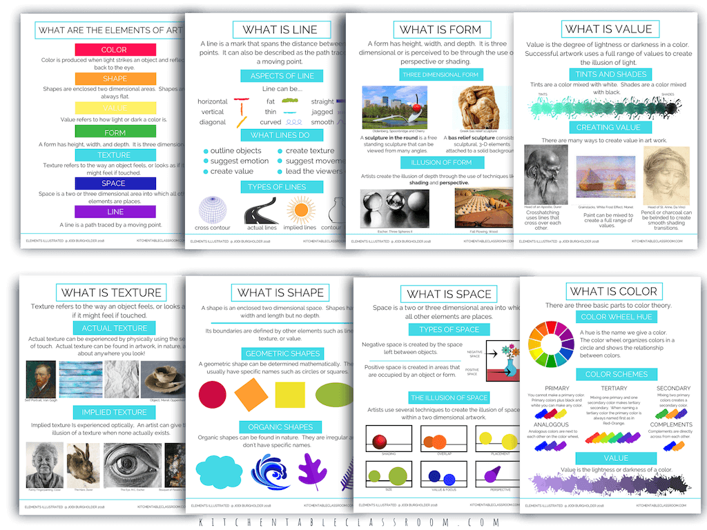 The Elements Illustrated Elements Of Art Posters And