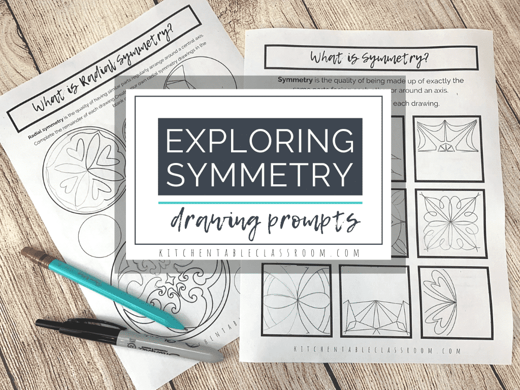 Exploring Art Concepts Line Of Symmetry Worksheets