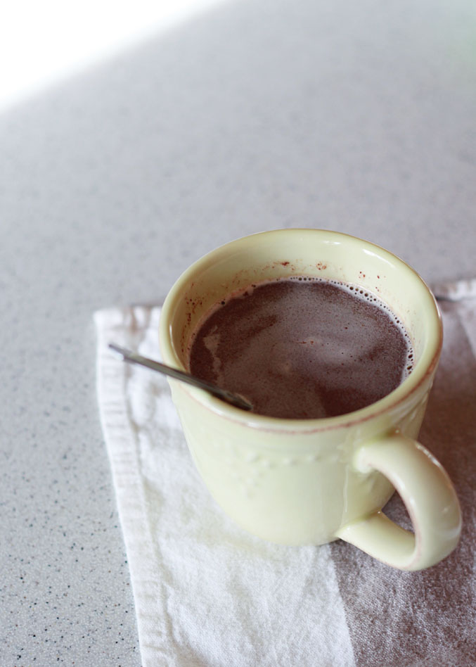 easy two minute hot chocolate by the mug