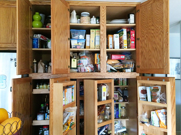 kitchen pantry organizers copper knobs for cabinets how we organized our small treaty this tiny was whipped into shape with