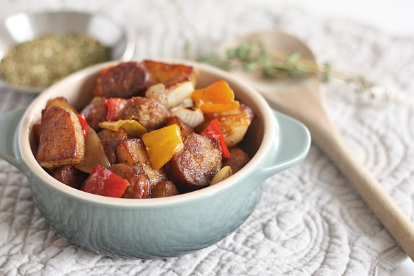 italian sausage and peppers bake