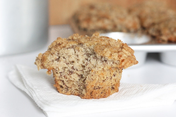 Best banana streusel muffins