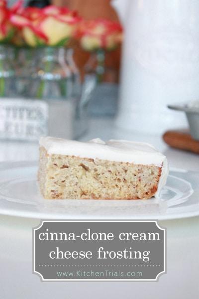 Cinnabun cream cheese frosting