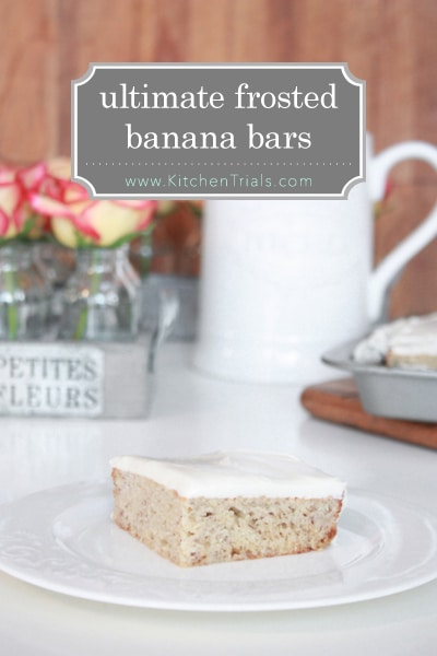 Ultimate frosted banana bars