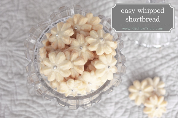 Easy whipped shortbread cookie press