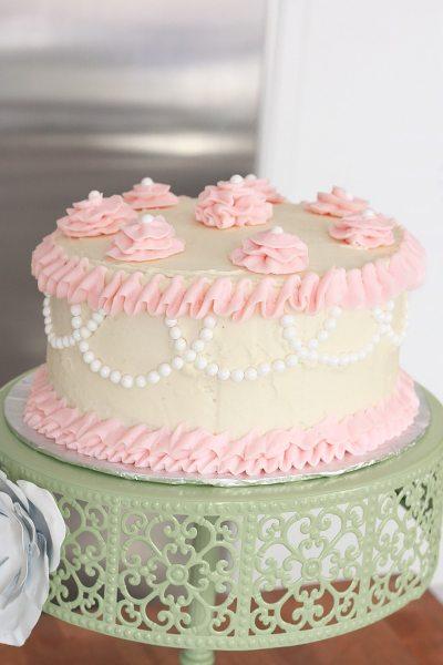 Two Layer Circular Vanilla Cake