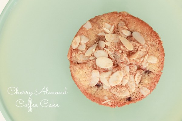 cherry almond coffee cake pin