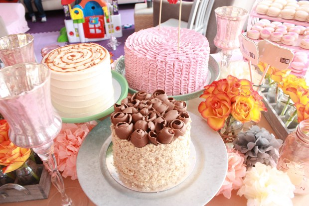 vintage pink party cakes