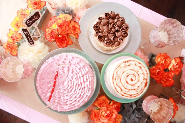 vintage pink party table 4