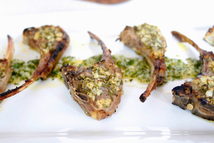 Lamb chops are covered in a fresh herb and garlic marinade with a kick of lemon, then broiled. Start to finish in 20 minutes!