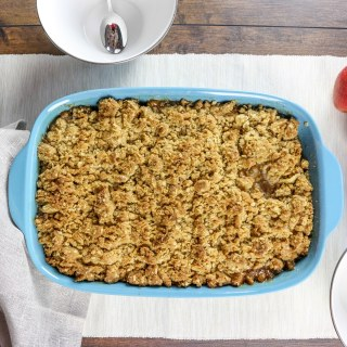 The best every recipe for apple crisp. It full of soft, sweet apples, and topped with a ton of crisp crumble. This has been my go-to recipe for over a decade, and it's SO EASY to make!