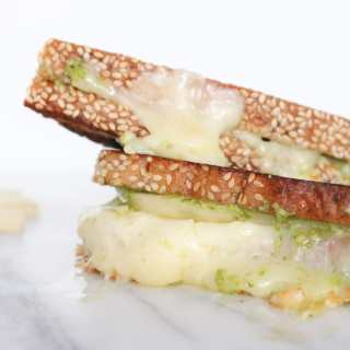 Havarti, Pesto & Pear Grilled Cheese Sandwich