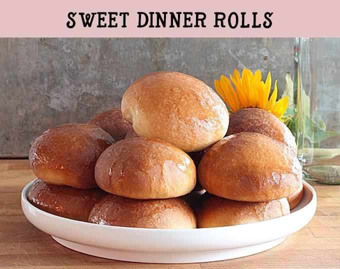 Sweet dinner rolls. Light and fluffy rolls with a honey butter glaze.