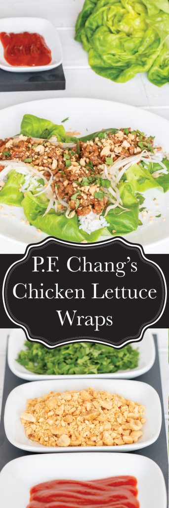 Everyone's favourite meal at P.F. Chang's can now be made at home whenever you feel like it. 30 minutes is all it takes to have P.F. Chang's delicious Chicken Lettuce Wraps on your table (and it makes for AMAZING leftovers!)