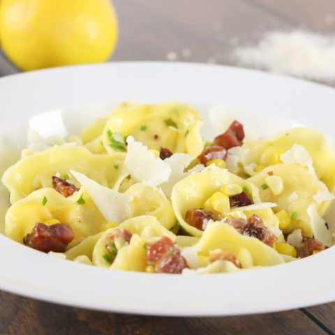 Three Cheese Corn Cappelletti with Pancetta