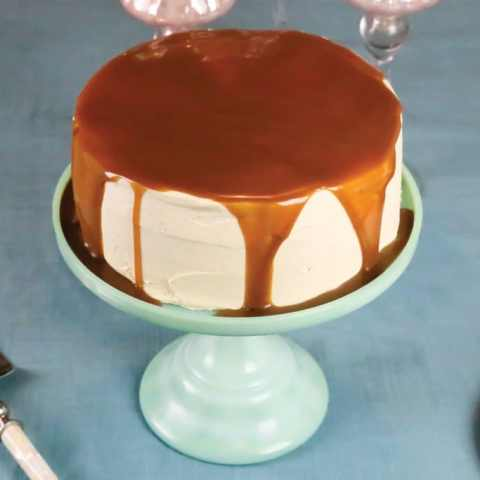 Gingerbread Cake with Caramel Frosting