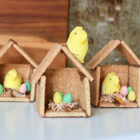 Graham Cracker Easter Bird Houses