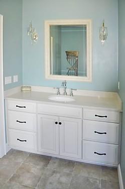 Rhode Island Bathroom Vanity Designed by Lisa Zompa