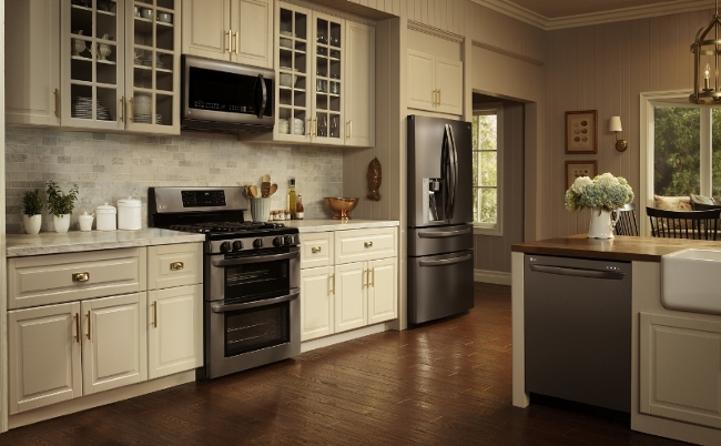 lg kitchen appliances cabinet sizes debuts black stainless steel kitchenware a new series of from electronics featuring highly anticipated finish called is elevating the popular
