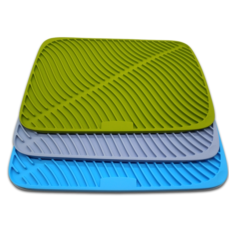 kitchen dish drying mat cost of a remodel 大型硅胶干燥垫供应商 中国排水垫制造商厨房台面与硅胶洗涤器中国工厂 大型硅胶干燥垫 带硅胶洗涤器的厨房台面排水垫