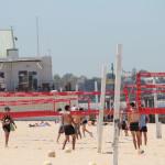 Volleyball spielen in St. Kilda Melbourne Australien
