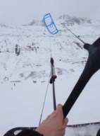 Kiteboarding auf dem Schnee mit Olli P.