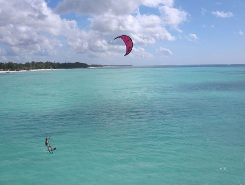 hydrofoil kitesurfing zanzibar