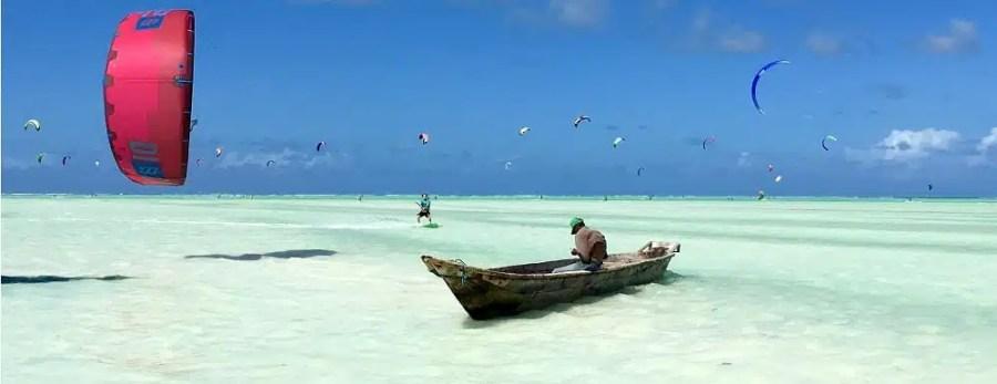 Kite Centre Zanzibar blue lagoon