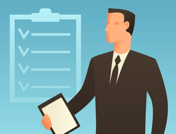 Planning business conceptual illustration with businessman. Image for web sites, articles, magazines