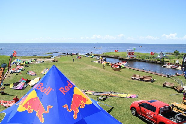 The launch at Real Watersports Kiteworld kitesurfing kiteboarding