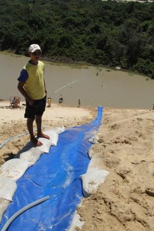 Massive dune slides