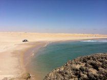 Point D'or wave spot in Dakhla, Morocco