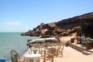 Oyster Farm on Dakhla lagoon in Morocco