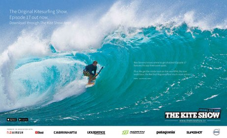Kitesurfing video show feature in Kiteworld issue #75