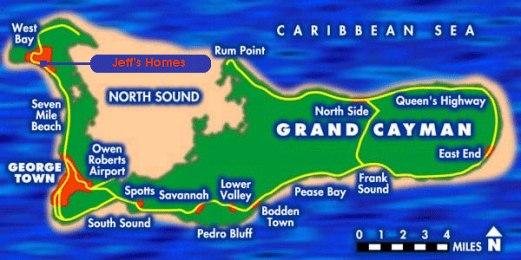 Grand Cayman Island map