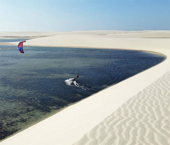 Freeride Kitesurf Atins, Brazil